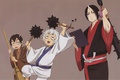 Картинка японская одежда, hoozuki no reitetsu, natsumi eguchi, эмоции, karauri, рог, nasubi, хладнокровный Хозуки, art, булава, ...