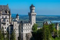 Картинка замок, стены, панорама, башни, Нойшванштайн