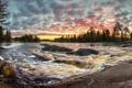 Картинка закат, природа, река