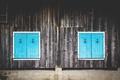 Картинка x2, симметрия, ставни, доски, окна, якоря, якорь, стена