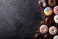 Картинка пончики, глазурь, donuts, chocalate
