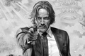 Картинка cinema, gun, pistol, weapon, man, movie, film, Keanu Reeves, suit, powerful, strong, tie, John Wick, ...