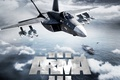 Картинка game, fighter, weapon, Jet fighter, aircraft carrier, navy, Arma 3, Arma, missiles