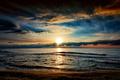 Картинка закат, небо, море