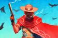 Картинка шляпа, сигара, револьвер, стрелок, overwatch, mccree, Jesse McCree