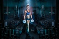 Картинка female, dumbbells, fitness, Gym, gym, workout
