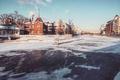 Картинка winter, aristovart, city, cityscape, snow, moscow, river, architecture