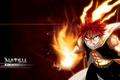 Картинка огонь, Драгнил, Хвост феи, аниме, Нацу, Fairy Tail, парень, арт