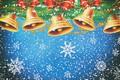 Картинка Фон, Настроение, Новый Год, Праздник, Колокольчики, Украшения, Снег, Минимализм, Зима, Рождество, Снежинки