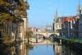Картинка мост, канал, Belgium, старый город, Gent