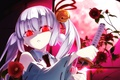Картинка anime, miko, blade, girl, sword, katana, ken, Armed Girl's Machiavellism, Busou Shoujo Machiavellianism, red eyes, ...