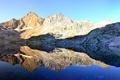 Картинка вода, горы, озеро, отражение, widescreen, panorama, dual-monitor, multi-monitors, dual-monitors, панограма