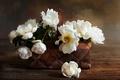 Картинка розы, корзинка, белые розы