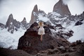 Картинка платье, Lichon, левитация, горы, снег, девушка, learn to fly