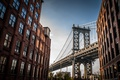 Картинка Bridge, New York, Manhattan Bridge, buildings