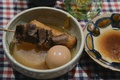 Картинка Стол, посуда, шашлык, блюда, яйцо.