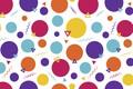 Картинка фиолетовый, круги, оранжевый, голубой, абстракция, фон, жёлтый