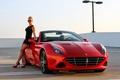 Картинка Ferrari, суперкар, California, девушка, феррари, калифорния
