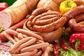 Картинка pepper, sausage, сосиски, колбаса, перец, meat