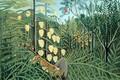 Картинка Henri Julien Félix Rousseau, В Тропическом Лесу, Анри Руссо, Борьба Между Тигром и Быком, животные, ...