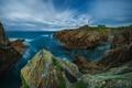 Картинка море, скалы, маяк, на краю