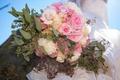 Картинка букет, розы, невеста, свадьба, цветы