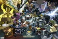Картинка gun, pistol, game, Blizzard, robot, mecha, weapon, angel, dragon, samurai, ninja, shinobi, machine gun, tenshi, ...