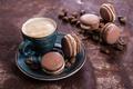 Картинка кофе, печенье, крем, десерт, выпечка, sweet, coffee cup, cookies, french, macaron, almond, макаруны