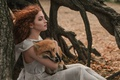 Картинка лиса, Лис Адисей, Елизавета Васина, девушка, кудри, ветер