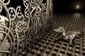 Картинка шестеренки, ящер, механика, 3D art, цифровой мир, bionic world