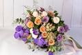 Картинка букет, розы, орхидея