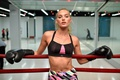 Картинка boxing gloves, boxing ring, look, gym, model, Elsa Hosk, blonde, girl
