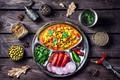 Картинка салат, специи, овощи, помидоры, перец, анис