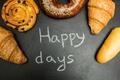 Картинка пончики, happy days, выпечка, круассаны, croissants