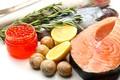 Картинка лимон, food, lemons, caviar, икра, улитки, fish, морепродукты, рыба, seafoods