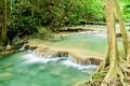Картинка landscape, лес, река, jungle, tropical, waterfall, водопад, forest, river