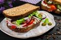 Картинка овощи, бутерброд, оливки