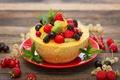 Картинка ягоды, малина, клубника, фрукты, смородина, дыня, салат, dessert, fruit salad