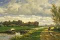 Картинка масло, картина, холст, Виллем Рулофс, Пейзаж в Окрестностях Гааги