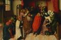 Картинка Мария на Смертном Ложе, Dood van Maria, мифология, масло, Meester van de Amsterdamse, картина, дерево
