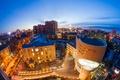 Картинка небо, огни, дома, вечер, панорама, Россия, вид сверху, улицы, Воронеж, Voronezh