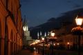 Картинка небо, сумерки, улица, огни, Казань, Кремль, Татарстан, мечеть, цветы