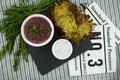 Картинка Укроп, Картофель фри, Fries, Beet cream soup, Свекольный суп-крем