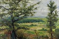 Картинка деревья, природа, картина, Александр Альтман, Летний пейзаж