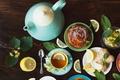 Картинка tea, булочка, lemon, herbal, травы, чашка, выпечка, чай, лимон, cup