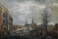 Картинка Карель Лодевейк Хансен, городской пейзаж, картина, Канал Рапенбург в Лейдене