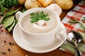 Картинка суп, зелень, грибы