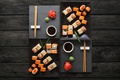 Картинка суши, sushi, роллы, вассаби, соус, имбирь, set, japanese food, палочки
