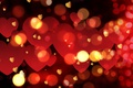 Картинка bokeh, background, love, romantic, сердечки, hearts, Valentine's Day, red