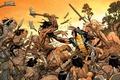 Картинка Блондинка, Герои, Костюм, Драка, Оружие, Битва, Маска, Росомаха, Логан, Комикс, Heroes, Когти, Superheroes, Арт, Wolverine, ...